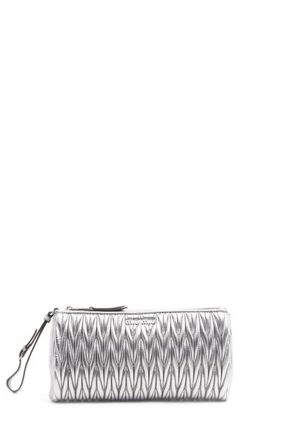 Miu Miu clutch silver bag