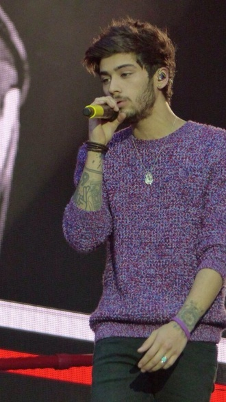 zayn malik one direction menswear purple sweater