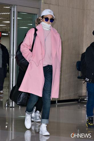 jacket pink coat long coat