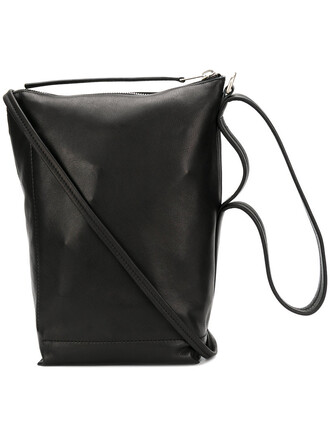 style women bag tote bag leather black