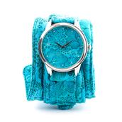 jewels,soft watch,autumn watch,autumn flowers,floral,floral watch,bright watch,designer watch,unusual watch,unique watch,cotton strap,ziziztime,ziz watch,sky blue,baby blue