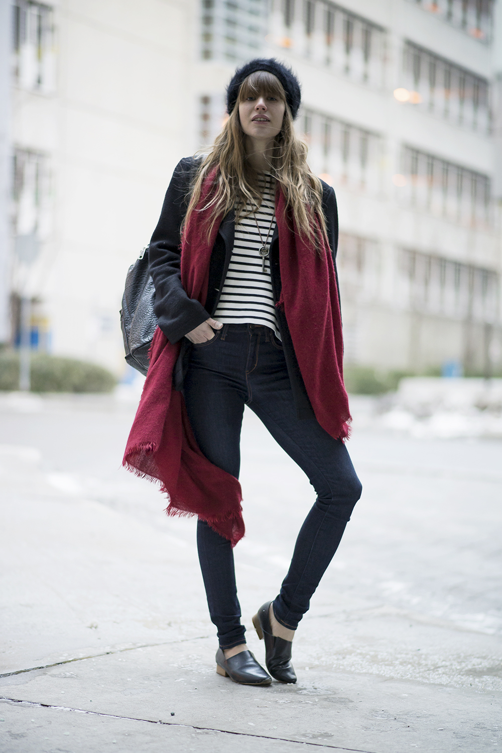 A RED SCARF | Just Another Fashion Blog