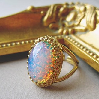 jewels multicolor vintage ring