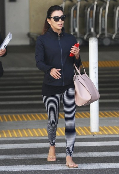 leggings shoes bag sunglasses eva longoria