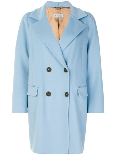 Alberto Biani coat women blue wool
