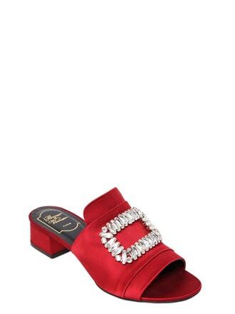 sandals satin dark dark red red shoes