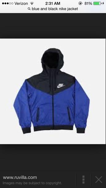 cc09271d29 blue and black nike jacket