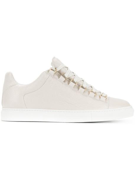 Balenciaga women sneakers leather white shoes