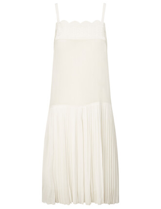 dress embroidered sheer white