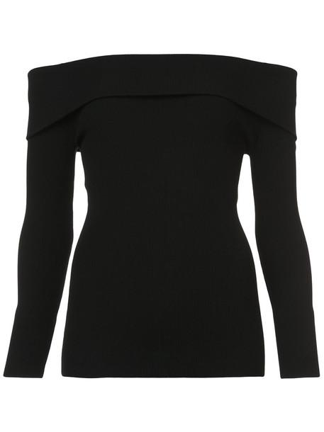 sweater women spandex black