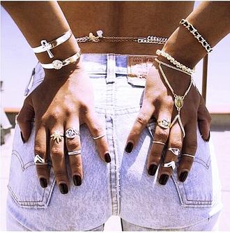 jewels silver ring bracelets