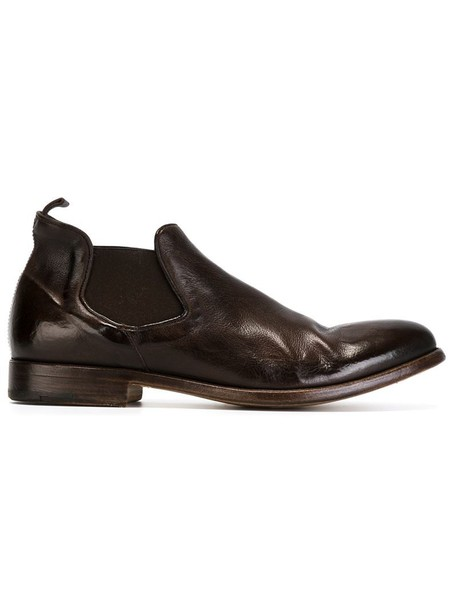ALBERTO FASCIANI women classic chelsea boots leather brown shoes