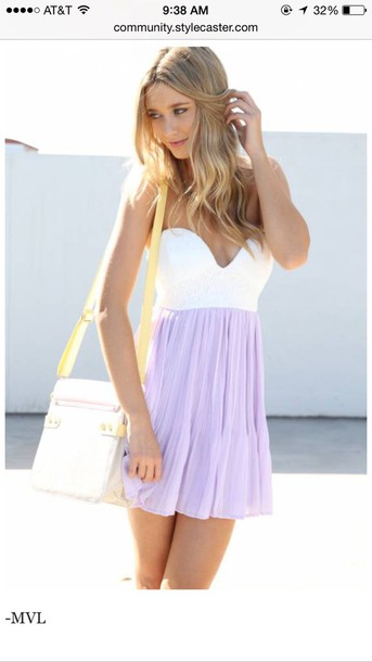 dress white and lavender dress lavender dress style