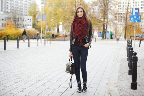fashion agony jacket jeans shoes scarf jewels bag