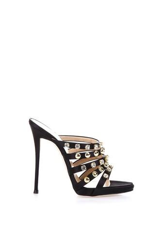 studs mules black shoes