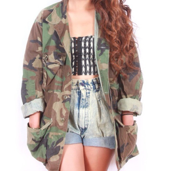 Camouflage jacket from daria's closet on poshmark
