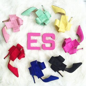 shoes high heels bow heels pink heels blue heels red heels mint heels yellow heels black heels black high heels blue high heels red high heels pink high heels cerise heels hot pink high heels hot pink heels mint high heels yellow high heels