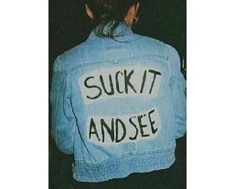 jacket denim arctic monkeys suck it and see denim jacket jean jacket
