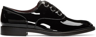 oxfords leather black shoes
