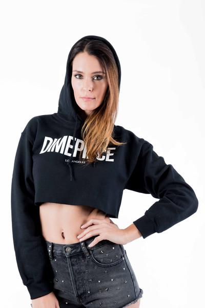 Dimepiece cropped hoodie
