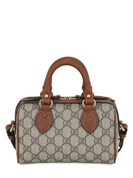 96b0f2182aa GUCCI Gg Supreme Mini Boston Shoulder Bag in brown - Wheretoget