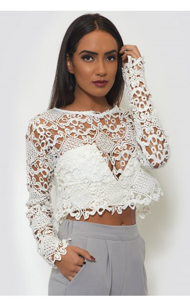 Ltd Edition Crochet Crop Top - from The Fashion Bible UK