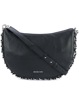 metal women bag crossbody bag leather black