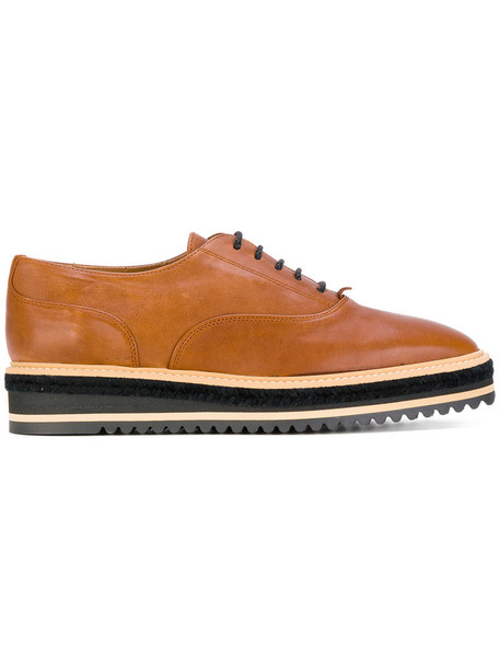 CASTAÑER women shoes lace-up shoes lace leather brown