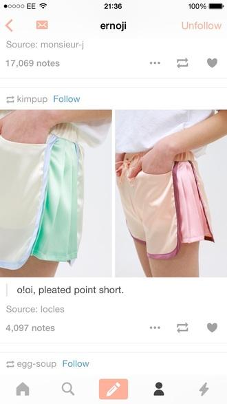 shorts pretty cute nice pink green blue