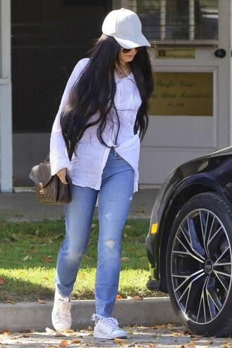 shirt blouse spring outfits jeans cap vanessa hudgens streetstyle