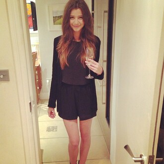 shorts eleanor calder classy cute black party blouse jacket black shorts