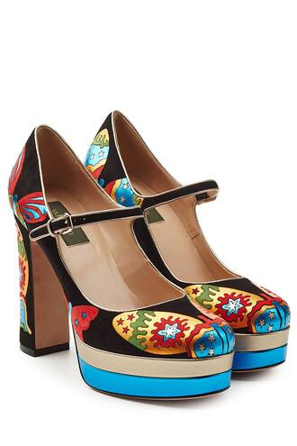 suede multicolor shoes