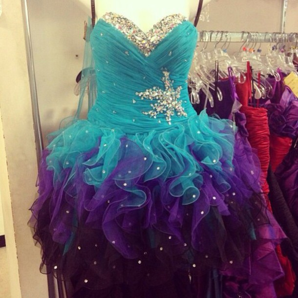 dress blue dress purple dress black dress sparkly dress