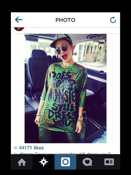 shirt rita ora leggings printed leggings outfits reptile skin monster