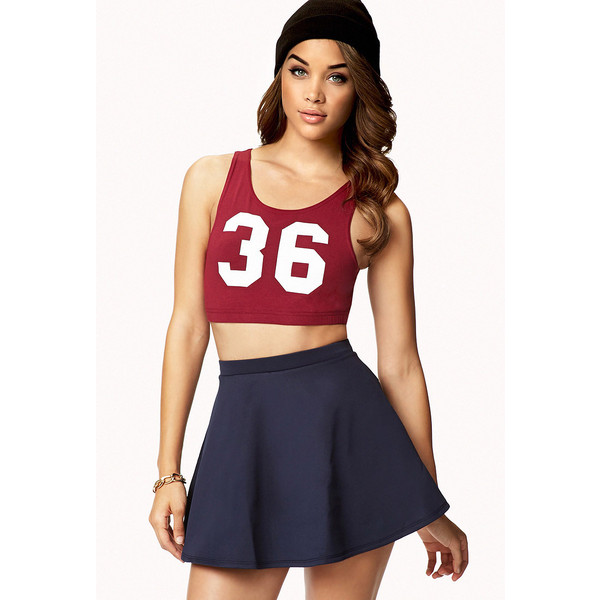 Forever 21 sporty cutout crop top