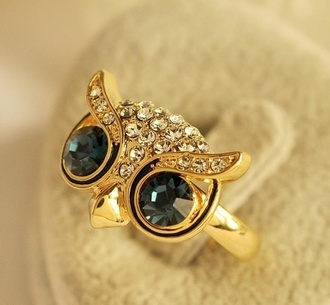 jewels ring owl diamonds gold beautiful accessories owl ring gold