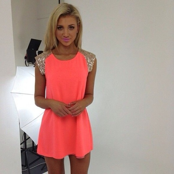 neon sequins fluro find me dress neon dress orange dress orange sparkly dress sequin neon