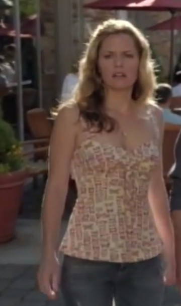 top celebrity maggie lawson psych butterfly butterfly girl style bustier tank top tv/movies tv tv shows tv show shirt hot nude top