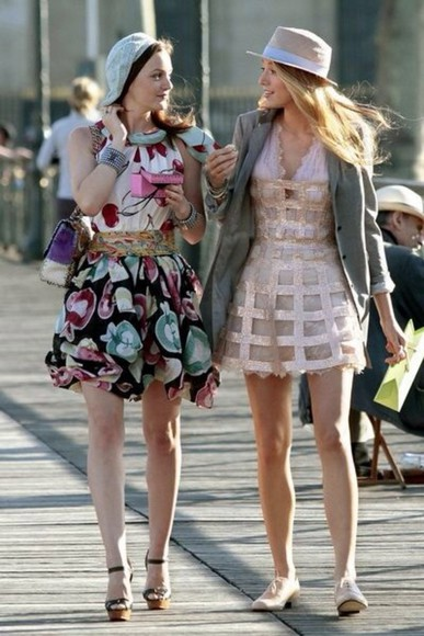 dress leighton meester blair waldorf gossip girl blake lively serena van der woodsen