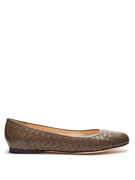 Bottega Veneta ballet flats ballet flats leather grey shoes