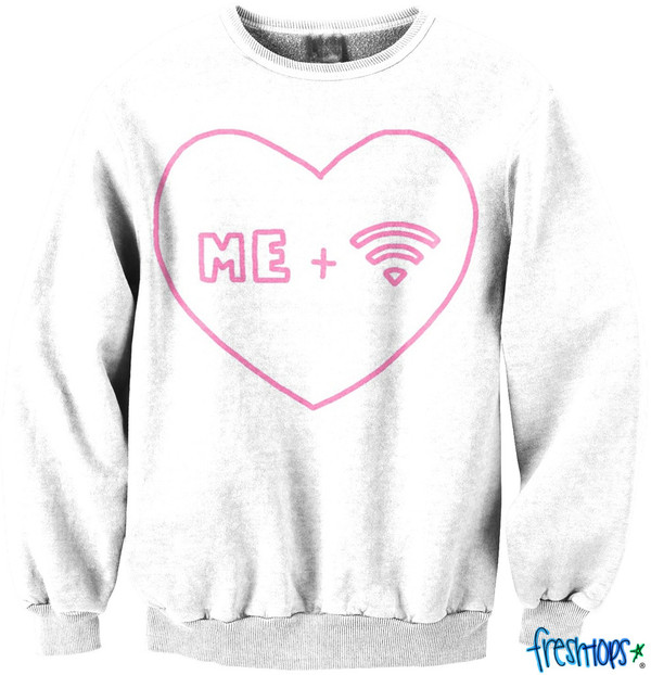 sweater tumblr crewneck cute wifi