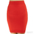 Thatcher by Alisse Thatcher Minimalist Bodycon Tube Skirt in Vermillion / TheFashionMRKT