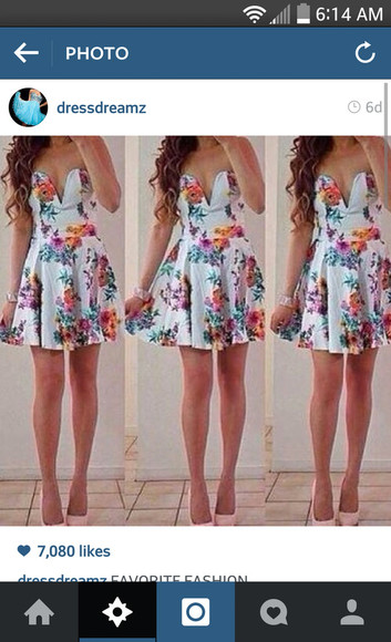 printed dress white dress floral dress