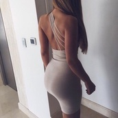 dress,backless,nude,nude dress,bodycon dress,sexy,summer,long hair,tan,creme dress,grey dress,backless dress,white dress,one shoulder,cocktail dress,bodycon,strappy,strappy dress,party dress,sexy party dresses,sexy dress,party outfits,summer outfits,summer dress,classy dress,elegant dress,date outfit,birthday dress,cute dress,girly dress,summer holidays,romantic dress,romantic summer dress,clubwear,club dress,celebrity style,graduation dress,short prom dress,grey,beige dress,3 straps,short dress,one shoulder dress,sexy outfit,spring dress,spring outfits,fall dress,fall outfits,homecoming,homecoming dress,wedding clothes,wedding guest,engagement party dress,open back dresses,beige,open,straps,open back,dope,wedding clohtes,tight grey dress,tight,backless prom dress,prom,prom dress