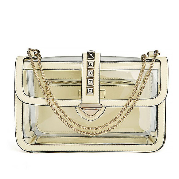 See Through Bag With Chain Straps