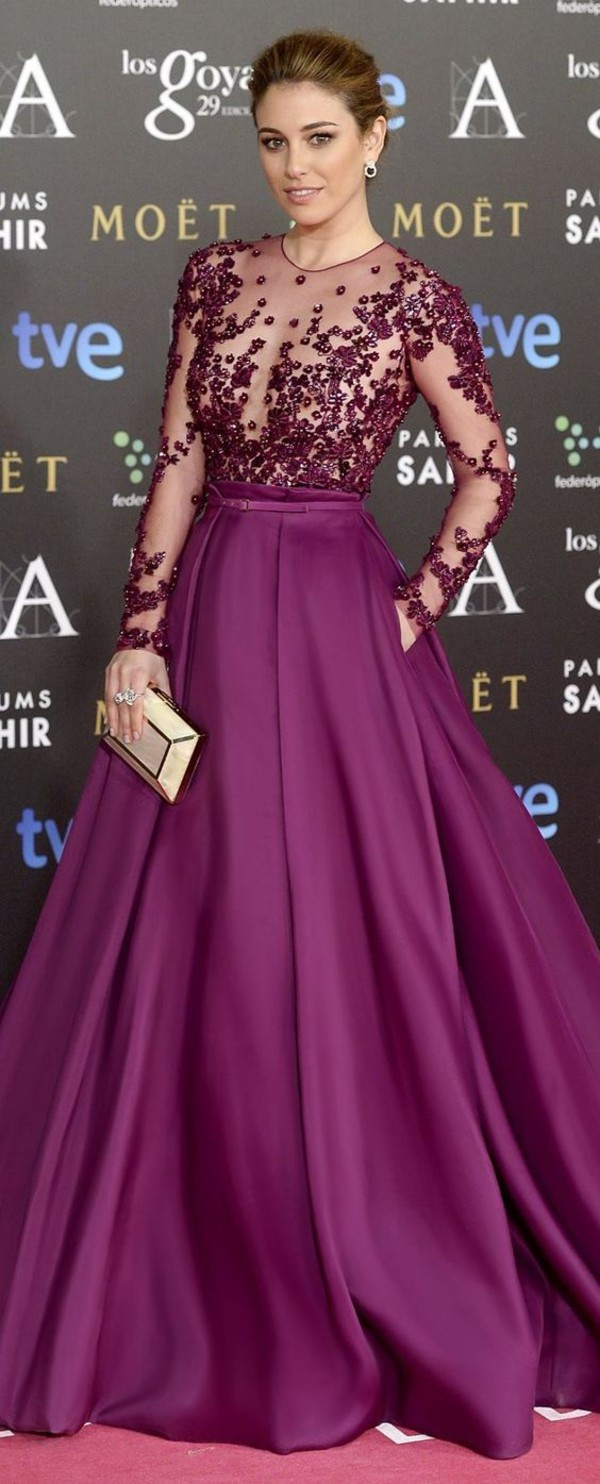 Purple Evening Dresses Vestidos De Noche Largos 2016 Long Formal ...