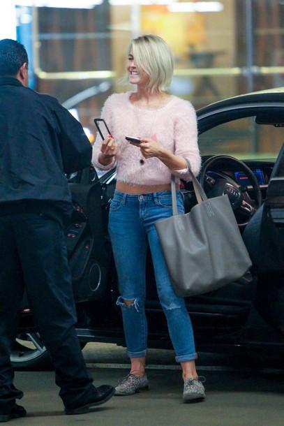cropped sweater julianne hough jeans sweater