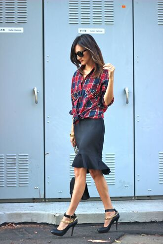 frankie hearts fashion t-shirt skirt shoes bag sunglasses