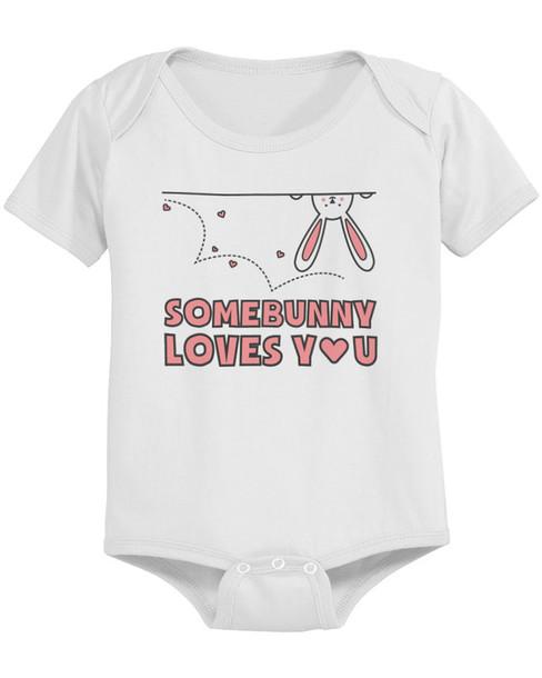 t shirt onesie baby baby onesie bodysuit somebunny loves you easter baby bodysuit. Black Bedroom Furniture Sets. Home Design Ideas