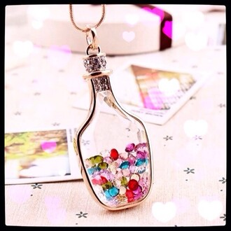 jewels necklace colorful jar necklace pendant
